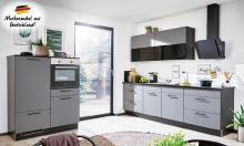 Einbauküche ELLA 420 inkl E-Geräte 280 + 120 cm von Burger Quarzgrau