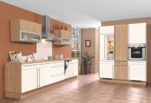 Einbauküche inkl E-Geräte 335 + 175 cm von Burger Silk HG / Sonoma Eiche