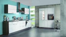 Einbauküche PLAN 161 von Express Küchen Eiche Weiss  Eiche Grau