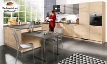 Einbauküche U-Form PLAN P11 WIN W01 335 x 375 x 270 cm inkl E-Geräte 295 x 250 x 245 cm von Express Wildeiche / Anthrazit