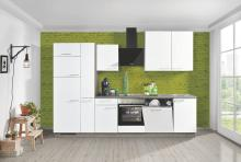 Einbauküche WIN W01 / PLAN P11 inkl E-Geräte 310 cm von Express Küchen Weiss / Eiche Grau