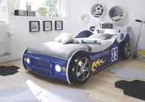 90x200 Autobett inkl Beleuchtung ENERGY von Pol-Power Blau Glanz