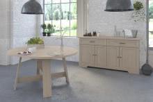 Esszimmer 2-tlg inkl Tisch rund u Sideboard Vanille 10 von Parisot Eiche Jackson