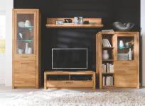 Wohnwand inkl Beleuchtung 4-tlg FENJA von MCA Furniture Kernbuche