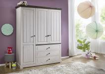 Kleiderschrank 3-trg JOLINA von 3S Frankenmöbel Kiefer massiv weiß