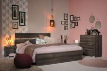 Schlafzimmerset 4-tlg inkl 160x200 Bett Galaxy 307 von Parisot Walnuss