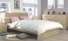 Schlafzimmerset 4-tlg inkl 140x200 Bett Galaxy 523 von Parisot Eiche Brooklyn