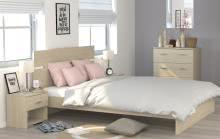 Schlafzimmerset 4-tlg inkl 140x200 Bett Galaxy 525 von Parisot Eiche Brooklyn