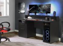 Gamer Tisch PC Schreibtisch TZRB213 TEZAUR von Forte Schwarz i