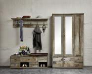 Garderobe 3-tlg Bonanza von Innostyle Driftwood Vintagelook Dekor