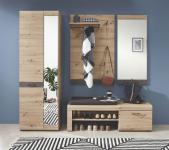 Garderobe 4-tlg WIEN von Innostyle Artisan Eiche / Roxy Steinoptik