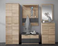 Garderobe 5-tlg ACHAT von Wohnconcept Wildeiche Bianco / graphit