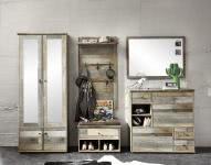 Garderobe 5-tlg Bonanza von Innostyle Driftwood Vintagelook Dekor