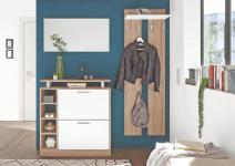 GarderobenSet 3 tlg TRACK-3 von First Look Sonoma Eiche / Weiss