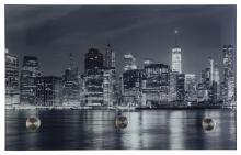 Glasgarderobe PEPE ca. 25x40 cm Motiv: Skyline von Spiegelprofi