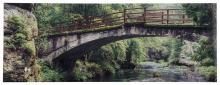 Glasgarderobe TOBI ca. 30x80 cm Motiv: Brücke von Spiegelprofi
