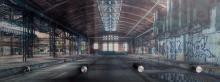 Glasgarderobe TOBI ca. 30x80 cm Motiv: Industrie von Spiegelprofi