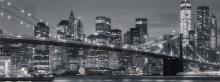 Glasgarderobe TOBI ca. 30x80 cm Motiv: Skyline II von Spiegelprofi