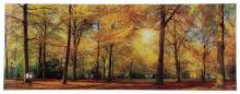 Glasgarderobe TOBI ca. 30x80 cm Motiv: Wald von Spiegelprofi