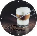 Glasuhr SIMON Ø 25 cm Motiv: Kaffee von Spiegelprofi