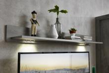 Wandbord inkl. LED-Beleuchtung Granada von Wohnconcept Haveleiche / Beton dunkel