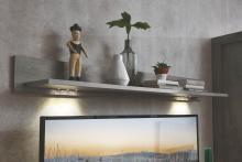 Wandbord inkl. LED-Beleuchtung Granada von Wohnconcept Haveleiche / Weiss supermatt