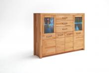 Highboard 4-trg inkl Beleuchtung FENJA von MCA Furniture Kernbuche massiv