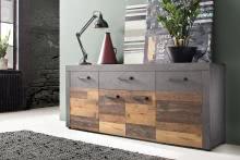 Sideboard INDY von Trendteam Old Wood / Graphit Grau Matera