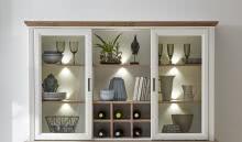 Buffet-Aufsatz inkl LED-Beleuchtung JASMIN von Innostyle Pinie Hell / Artisan Eiche