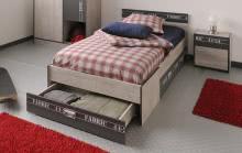Jugendbett mit Nachtkommode Fabric5