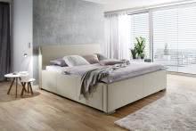 LA FINCA von Meise Möbel Polsterbett inkl Bettkasten u Lattenrost Kopfteil glatt CHARON Stoffbezug
