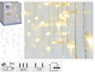 LED-Lichtervorhang 180 LED warmweiss von Koopman Weiss