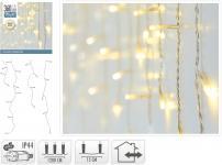 LED-Lichtervorhang 360 LED warmweiss von Koopman Weiss