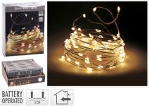 LED-Silberdraht 100 LED Indoor von Koopman Silber