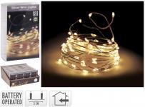 LED-Silberdraht 20 LED Indoor von Koopman Silber