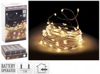 LED-Silberdraht 40 LED Indoor von Koopman Silber