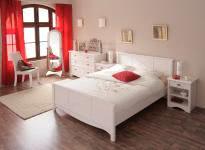 Schlafzimmer-Set 4-tlg inkl 160x200 Bett Marion 6 von Parisot Kiefer Weiss