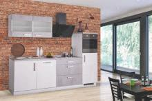 Küchenblock 270 cm breit MARA II von Menke Möbel Weiss HG/Betonoptik