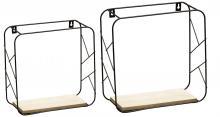 Metallregal 2er Set ELDE schwarz von Spiegelprofi