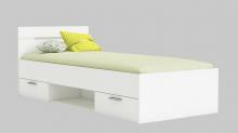 90x200 Bett Michigan Perle Weiß von Demeyere