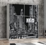 Schweber 170 cm breit Plakato von Forte Motiv New York / Weiss