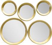 Rahmenspiegel 5er Set MARIE goldfarbig von Spiegelprofi
