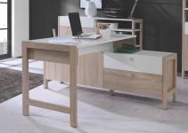 Schreibtisch HOYVIK von Forte Sonoma Eiche / Weiß