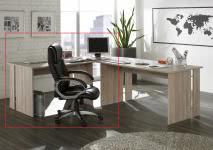 Schreibtisch inkl Eckplatte OMEGA von Intra direct Sonoma Eiche