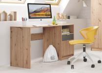 Schreibtisch KARLA von Begabino Artisan Eiche / Graphit