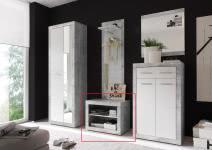 Sitzbank STONE von First Look Beton / Weiß glanz