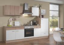 Küchenblock 270 cm SONJA von Menke Möbel Weiss / Sonoma Eiche