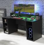 Gamer Tisch PC Schreibtisch TZRB211 TEZAUR von Forte Schwarz