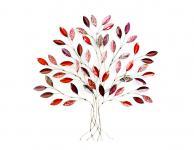Wanddeko Baum Metall von H. Denk GmbH Rot / Bunt