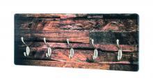 Wandgarderobe 18887 von HAKU Holzmotiv / Edelstahloptik